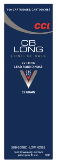 CCI Low Noise/Training/Specialty 22LR CB LRN 29gr, 100rd/Box
