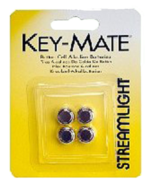 Streamlight Key Mate 4 Pack Alkaline Button Cell Silver
