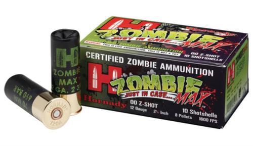 Hornady Zombie Max 12 Gauge 00Buck 10 Round Box