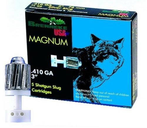 "Brenneke 410g 3"" 1/4 oz Magnum Sabot Slug, 1755 FPS, 5rd/Box"