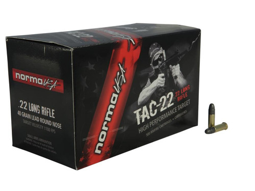 Norma Tac .22 LR, 40gr, Lead Round Nose, 50rd Box