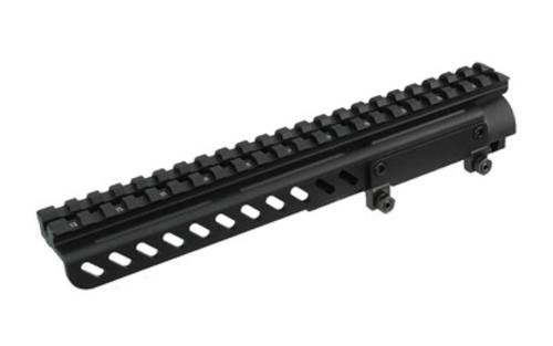 Leapers, Inc. - UTG Receiver Cover Mount, Fits SKS, with 22 Slots and Shell Deflector, Black