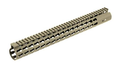 "Leapers, Inc. - UTG Handguard, Fits AR Rifles, 15"" Super Slim, Free Float Keymod, Flat Dark Earth Cerakote"