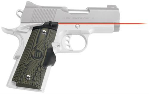 Crimson Trace Master Series 1911, Compact G10 Green/Black, Red Laser