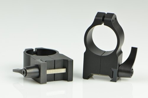 Warne 1 Inch, QD, Extra High Matte Rings, Steel, Fixed for Maxima/Weaver Style or Picatinny Bases