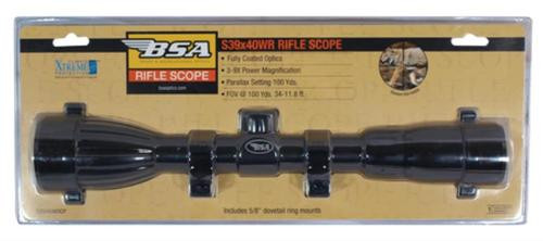 BSA Sporting Optics Special Series Riflescope 3-9x40mm Duplex Reticle Matte Black With Rings Clampack