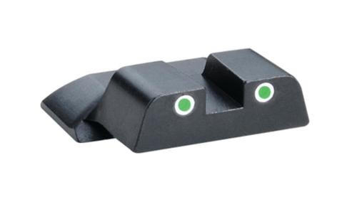 Ameriglo Rear Tritium Night Sights S&W M&P Green Tritium With White Outlines