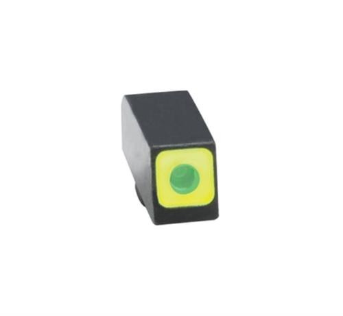 Ameriglo Front Tritium Night Sight For All Glock Green With LimeGreenLumi Square Outline .165 Height .140 Width