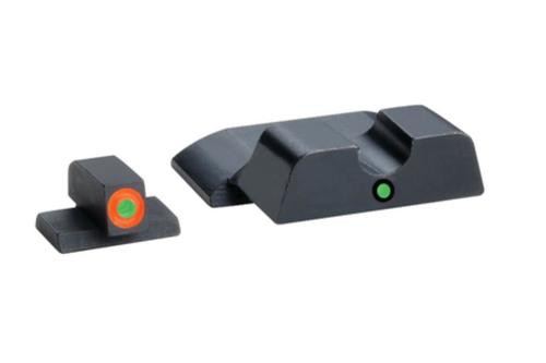 Ameriglo Pro i-dot Set For S&W M&P (not Shield) Front ProGlo Green Tritium Wwith Orange Outline Single Dot Green Rear Sight