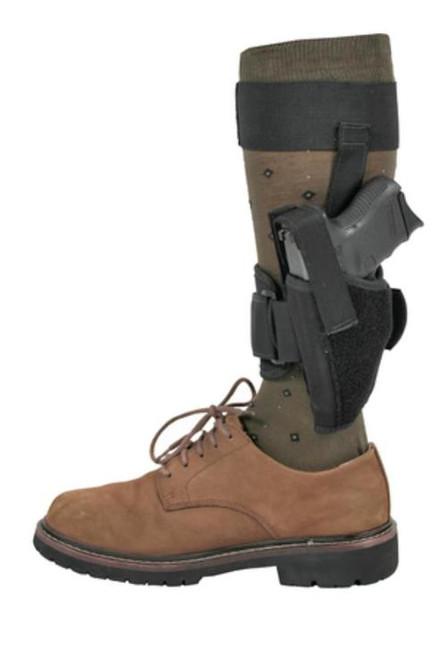 "Blackhawk Ankle Holster Black Left Hand For 3-4"" Barrel Medium Autos .32-.380 Calibers"