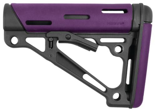 Hogue AR-15/M16 Collapsible Buttstock Purple Rubber