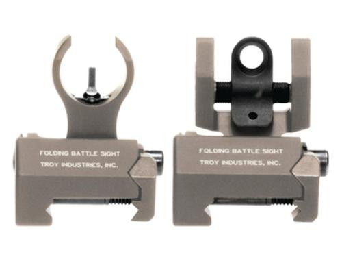 Troy HK Front And Rear Folding Micro BattleSights Flat Dark Earth