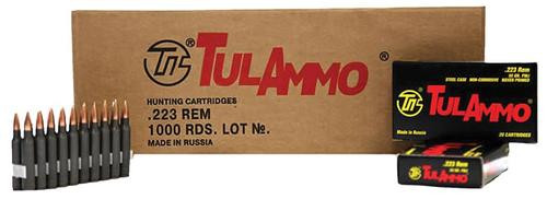 TulAmmo .223 Rem, 75 Gr, Hollow Point, Steel Cased, 20rd Box