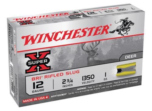 """Winchester Super-X BRI Sabot 12 Ga, 2.75"""", 1oz, Slug, 5rd/Box"""