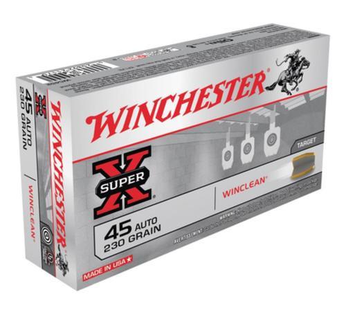 Winchester WinClean 45 ACP 230gr, Brass Enclosed Base, 50rd Box