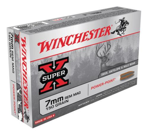 Winchester Super-X 7mm Rem Mag 150gr, Power-Point 20rd Box