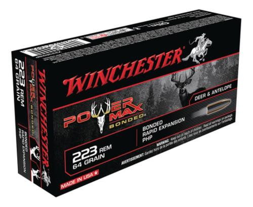 Winchester Power-Max .223 Rem 64gr, Protected Hollow Point Bonded