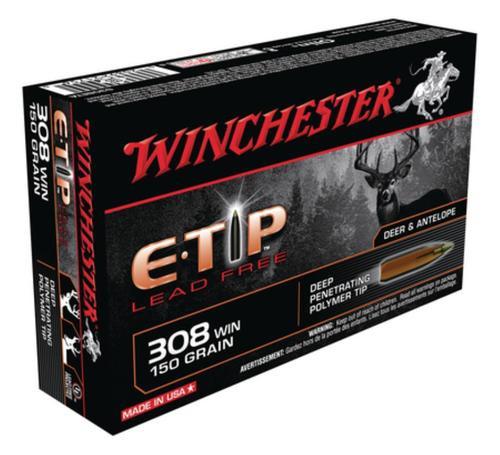 Winchester E-Tip Lead-Free .308 Winchester 150 Grain E-Tip Lead Free