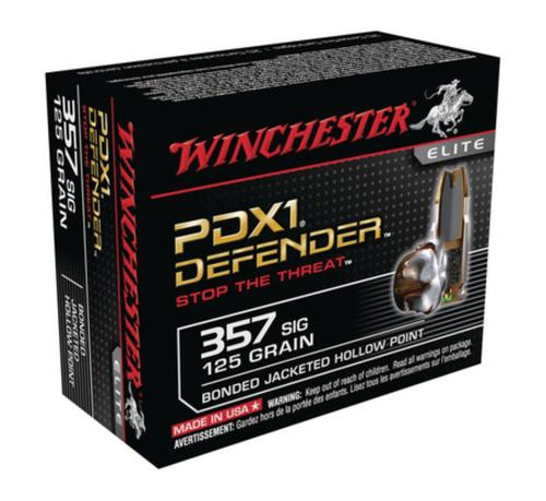 Winchester PDX1 Defender .357 SIG 125gr, Personal Defense 20rd Box