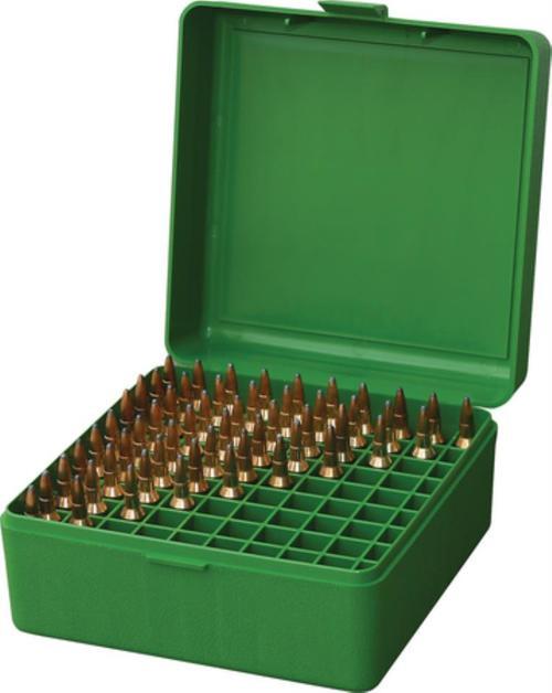 MTM Case Gard RM-100 Rifle Ammo Box .22-250/.308/.243 Green