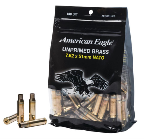 Federal Ammunition Lake City Unprimed New Brass Cases 7.62x51mm