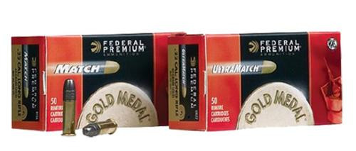 Federal Gold Medal Premium Ultra Match 22LR 40gr, Solid, 50rd Box