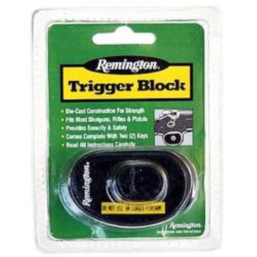 Remington Accessories Trigger Block Lock/2 Keys Gun Lock Green