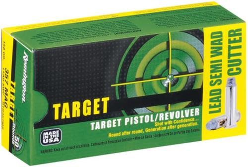 Remington Target .38 Special 158 Grain Lead Semi Wadcutter