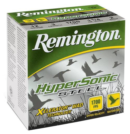 Remington HyperSonic Steel 20 Ga, 3 7/8oz, 2 Shot, 25rd/Box