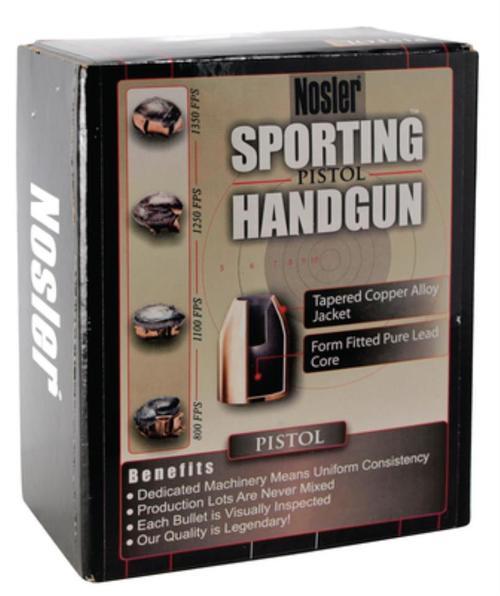 Nosler Sporting Pistol Reloading Bullets JHP 10mm .400 135gr, 250Box