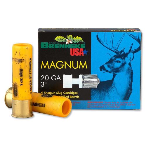 "Brenneke Gold Magnum Slugs, 20 Ga, 3"", 1oz, 5rd/box"