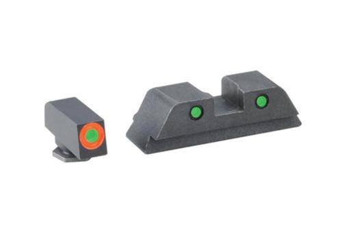 Ameriglo Spartan Tactical Tritium Night Sight Set For Glock 42 Orange/Green
