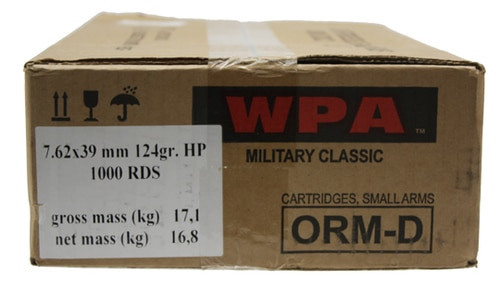 Wolf Ammunition WOLF 762X39 Hollow Point, 124gr, 1000 Case