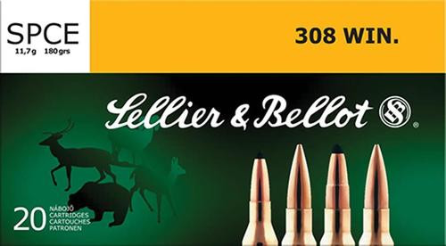 Sellier & Bellot 308 Winchester 180gr, SPCE 20rd Box