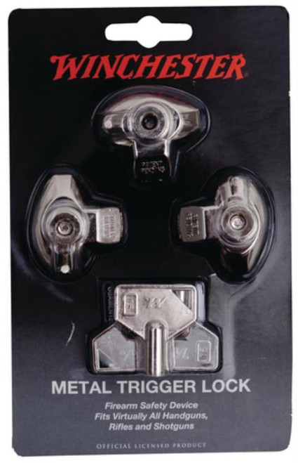 DAC TECHNOLOGIES Winchester Metal Trigger Locks Three Keyed-Alike Per Pack