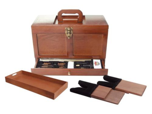 DAC Technologies GunMaster Wooden Toolbox With 17 Piece Universal Cleaning Kit
