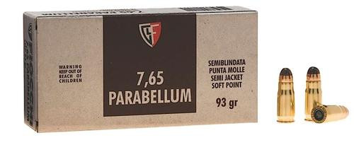 Fiocchi Specialty .30 Luger 93gr Jacketed Soft Point 50rd Box, 20 Box/Case