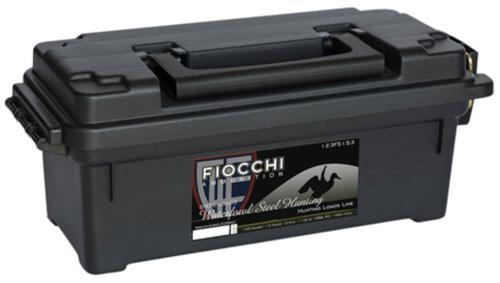 "Fiocchi Shooting Dynamics 12 Ga, 3"", 1-1/5 oz, 3 Shot, Plano Ammo Box, 100rd/Case (10 Boxes of 25rd)"