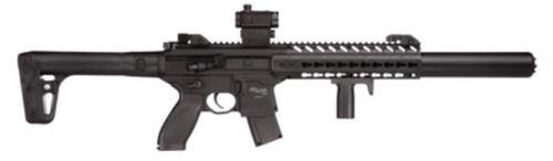 "Sig Sauer, MCX, CO2 Rifle, 177PEL, 625 Feet Per Second, 18"" Barrel, Black, Includes Sig 20R Red Dot, 30Rd"