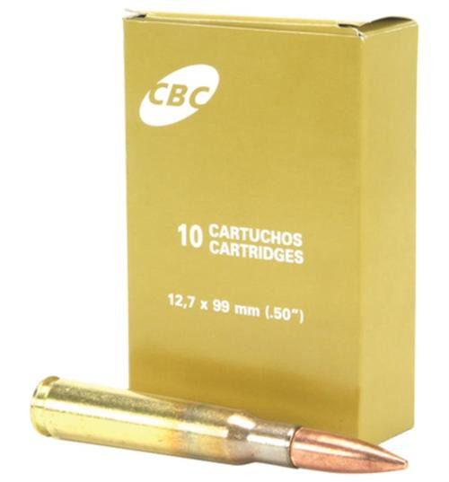 CBC .50 BMG Ammunition CBC 660 Grain M33 Ball Full Metal Jacket 10rd/Box