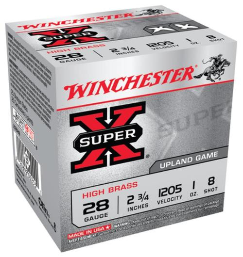 "Winchester Super-X High Brass 28 Ga, 2.75"", 1oz, 8 Shot, 25rd/Box"