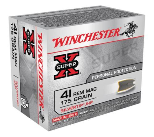 Winchester Super X 41 Rem Mag Silvertip HP 175gr, 20rd Box