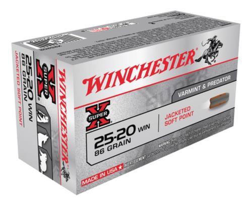 Winchester Super X 25-20 Winchester Soft Point 86gr, 50Box/10Case