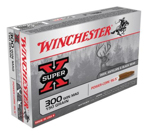 Winchester Super-X Power Core 300 Win Mag 150gr, Power Core 95-5 20rd Box