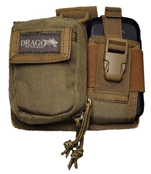 Drago Gear 16303TN Recon Camera Utility Phone & Recon Case 600D Polyester Tan