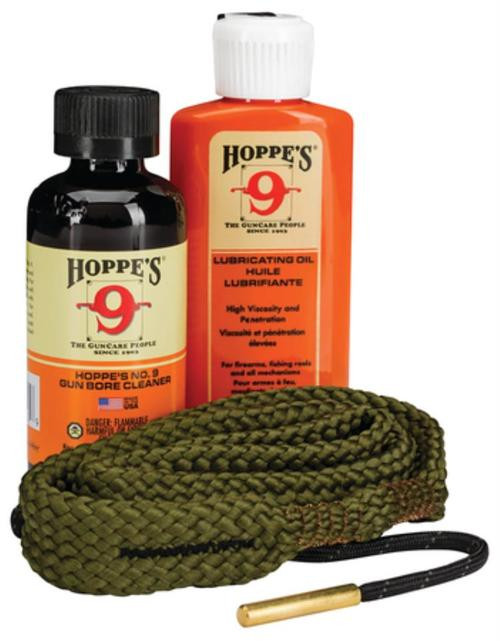 Hoppe's 1-2-3 Done! Cleaning Kit, .45 Caliber Pistol, Clam Pack, Includes BoreSnake, Solvent, and Oil