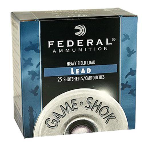 "Federal Game Shok Heavy Field 12 Ga, 2.75"", 1-1/8z, 4 Shot, 25rd/Box"