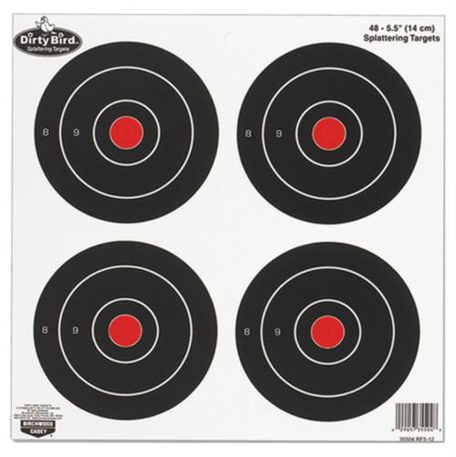 "Birchwood Casey Dirty Bird Splattering Targets 6"" Round 4 Per Sheet, 12 Sheets Per Package"