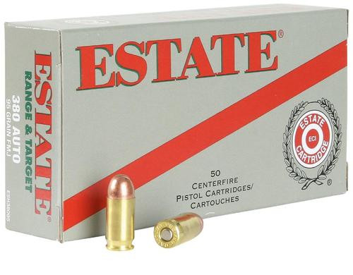Estate Range 380 ACP 95gr, Full Metal Jacket, 50rd Box