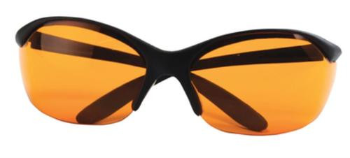 Howard Leight Vapor II Eyewear, Black Frame, Orange Lens
